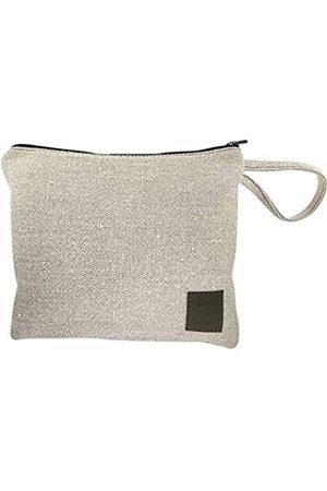 Santa Playa Make-up-Tasche, handgefertigt aus gewebtem Hanf, praktische Tragetasche für persönliche Gegenstände, Kosmetik, Toilettenartikel – ideal für Reisen, den täglichen Gebrauch, kompakt