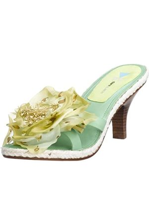 Daniblack Damen Chakratoo Slide, Grün (Handinnengrünes Leder)