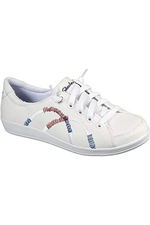 Skechers Women's Madison Ave-Allow Me Sneaker, White/Red/Navy