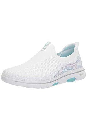 Skechers Damen GO Walk 5 Printed Heel Slip ON Sneaker, /Mehrfarbig