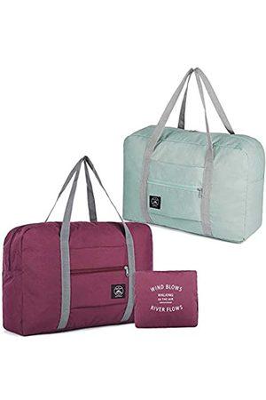 SNOMEL Faltbare Reisetasche mit festem Trolley-Koffer, wasserdichte Gepäcktasche, leichte Tragetasche für Sport, Urlaub, Shopping, Fitnessstudio