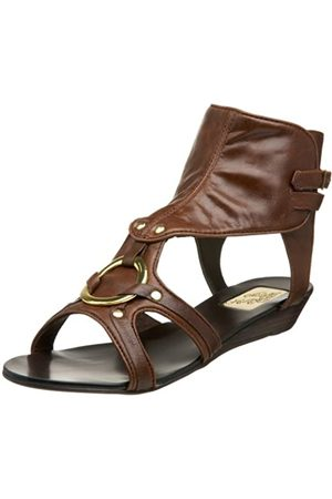 NAUGHTY MONKEY Damen One Way Ticket Sandale flach, Braun (Schokoladenbraun)