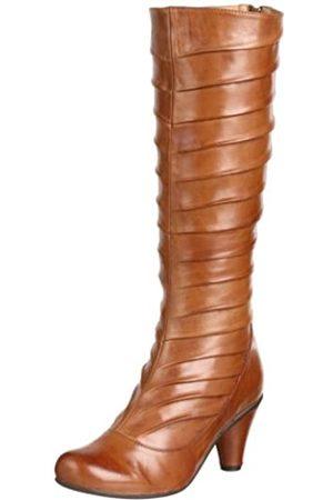 Miz Mooz Damen Angelique Plissee Stiefel, Beige (Cognac)
