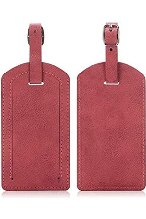 EpicGadget Gepäckanhänger, Reisetasche aus PU-Leder mit Sichtschutz