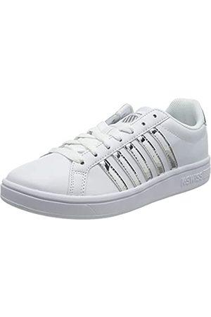 K-Swiss Damen Court TIEBREAK Sneaker, White/Silver