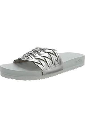 flip*flop Damen Pool Braid Sandalen, lt Grey/Silver