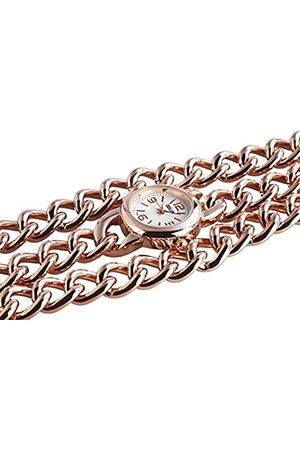 Excellanc Damen Analog Quarz Uhr mit Verschiedene Materialien Armband 150432500002