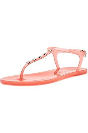 Katy perry Damen The Geli Novelty Studded T-Strap Flat Flache Sandale, Gänseblümchen/Oasis Pink