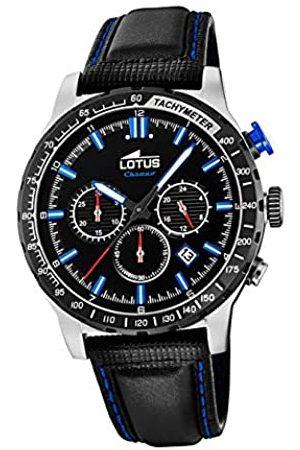 Lotus Herren Analog Quarz Uhr mit Leder Armband 18587/3