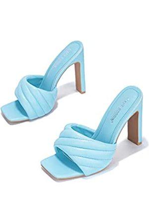 Cape Robbin Lorelai Sexy Gewebte High Heels für Damen, quadratische offene Zehen Schuhe