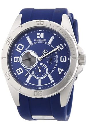 HUGO BOSS Boss Orange Herren-Armbanduhr XL Analog Quarz Silikon 1512814
