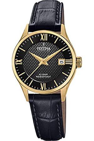 Festina Unisex Erwachsene Analog Quarz Uhr mit Leder Armband F20011/4