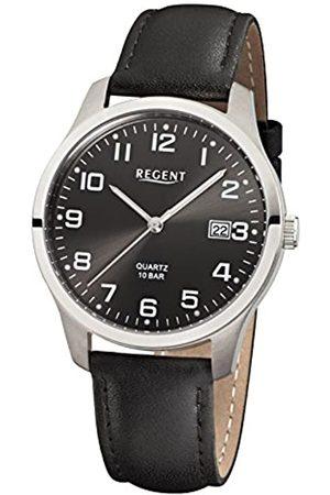 Regent Herren Analog Quarz Uhr mit Leder Armband 11190162
