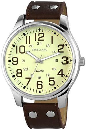 Excellanc Herren-Armbanduhr XL Analog Quarz Verschiedene Materialien 295027500142