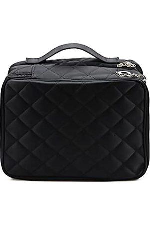 Auch Reise-Make-up-Koffer–DoppelschichtigeKosmetiktaschenzweiAufbewahrungsfächerPlatzfüralleIhreKosmetikamultifunktionaltragbarMake-up-TaschefürDamen(schwarz)