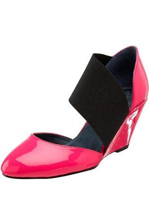 Daniblack Damen Pumpe Cradle Wedge, Pink (Pink Neon Patent)