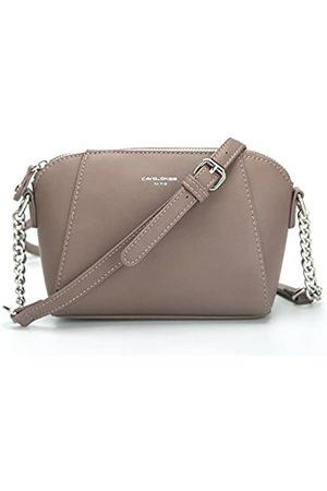 David Jones Damen PU Leder Crossbody Umhängetasche Sattel Handtaschen, (D.pink)