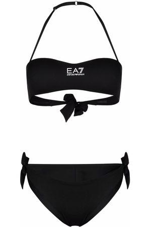 EA7 Klassischer Neckholder-Bikini