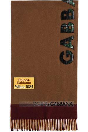 Dolce & Gabbana Schal mit Logo-Applikation