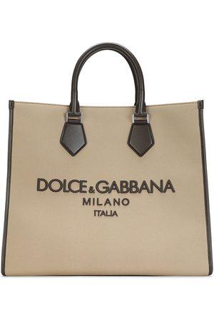 Dolce & Gabbana Gewebter Shopper mit Logo