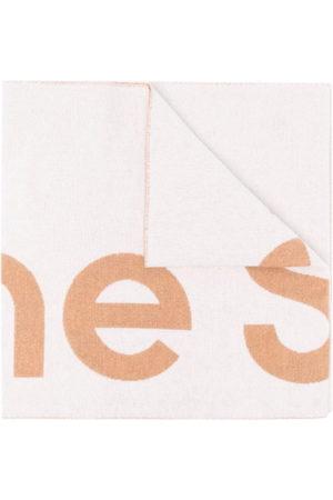 Acne Studios Oversized-Schal mit Jacquard-Logo - Nude