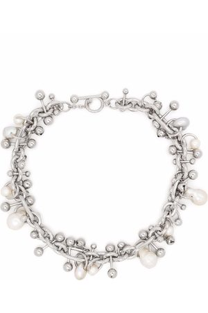 Acne Studios Pearl-embellished beaded necklace