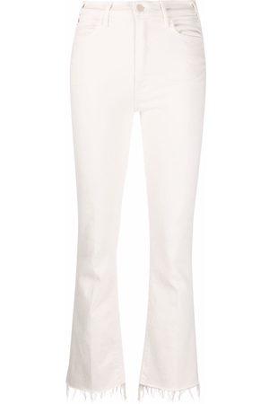 Mother Bootcut-Jeans mit ausgefranstem Saum
