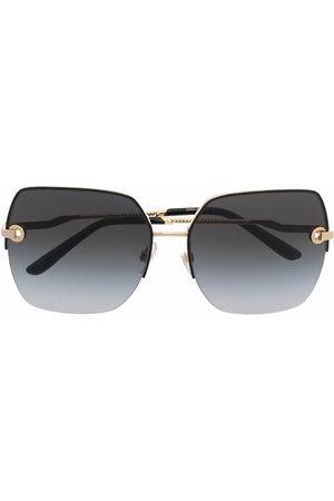 Dolce & Gabbana Eckige DG Signature Sonnenbrille