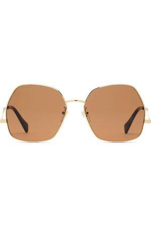Gucci Sonnenbrille mit geometrischem Gestell