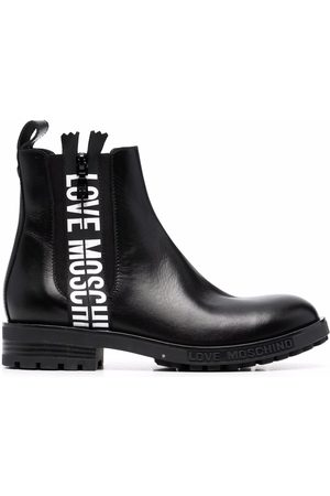Love Moschino Chelsea-Boots mit Logo-Band