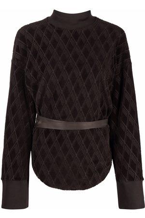 The Attico Klassisches Jacquard-Sweatshirt