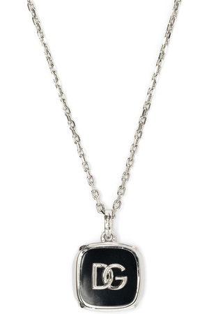 Dolce & Gabbana Logo-plaque chain-link necklace