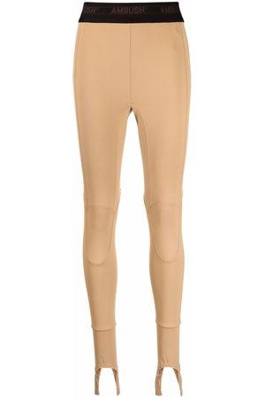 AMBUSH Stirrup high-waist leggings - Nude