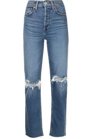 RE/DONE Gerade Jeans im Distressed-Look