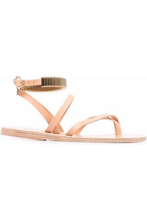 Ancient Greek Sandals Verzierte Sandalen - Nude