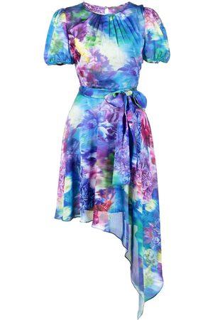 Marchesa Notte Kleid mit asymmetrischem Saum - Mehrfarbig