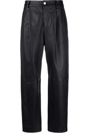 RED Valentino Cropped-Hose aus Leder