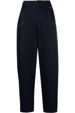 Serafini Hoch sitzende Tapered-Jeans