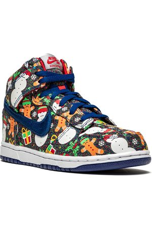 Nike X Concepts Dunk High Ugly Sweater Sneakers