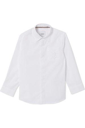 Burberry Jungen Hemden - Hemd mit Monogramm-Stickerei