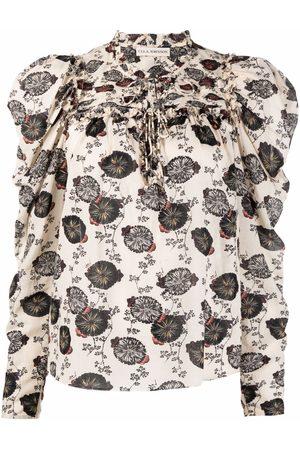 ULLA JOHNSON Bluse mit Print - Nude