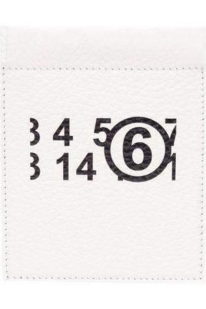 MM6 MAISON MARGIELA Logo-print grained leather wallet
