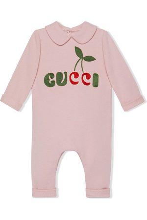 Gucci Strampler mit Kirschen-Logo