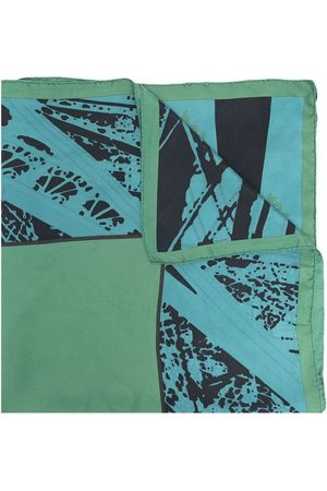 Hermès 2010s pre-owned abstract print silk scarf