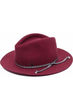 Le Mont St Michel Logo-strap wool fedora hat