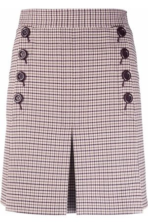 See by Chloé Checked pleated skirt - Nude