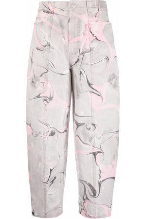 Stella McCartney Marble-print denim jeans