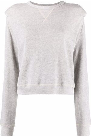 R13 Square-shoulder crew neck sweatshirt