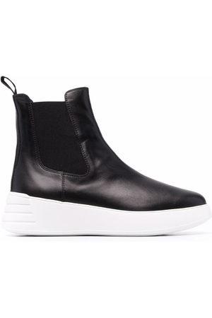 Hogan Rebel leather Chelsea boots