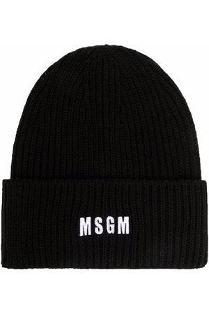 Msgm Mütze mit Logo-Stickerei